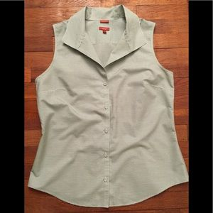 Talbots Stripe Sleeveless Shirt size 14